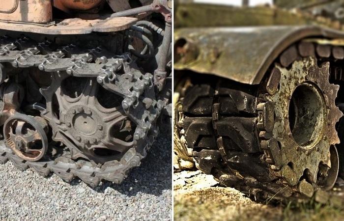 Почему у танков гусеничные пальцы смотрят шляпкой внутрь, а у тракторов - наружу