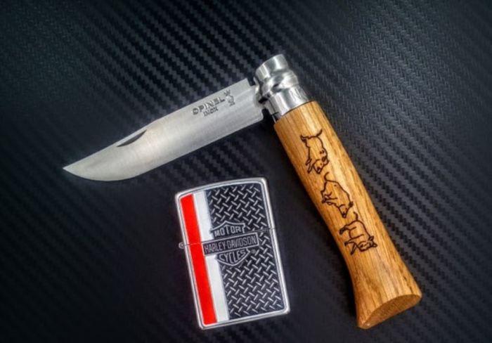 Понадобится нож и зажигалка. /Фото: vk.com.