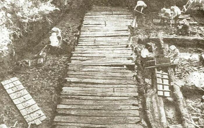 Для мощения дорог дерево использовалось вплоть до XX века. /Фото: ya.ru.