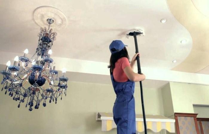 Что надо знать о мытье потолков.