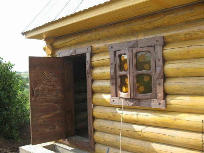 Правильная баня простоит и 15 лет. /Фото: livemaster.ru.