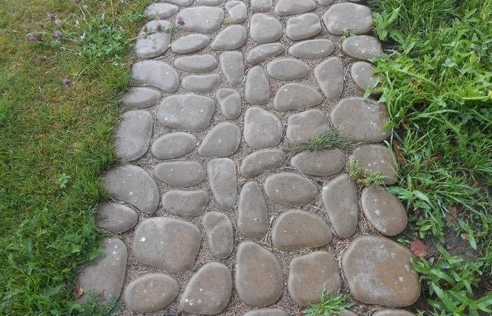 Как своими руками сделать тротуарную плитку с имитацией брусчатки