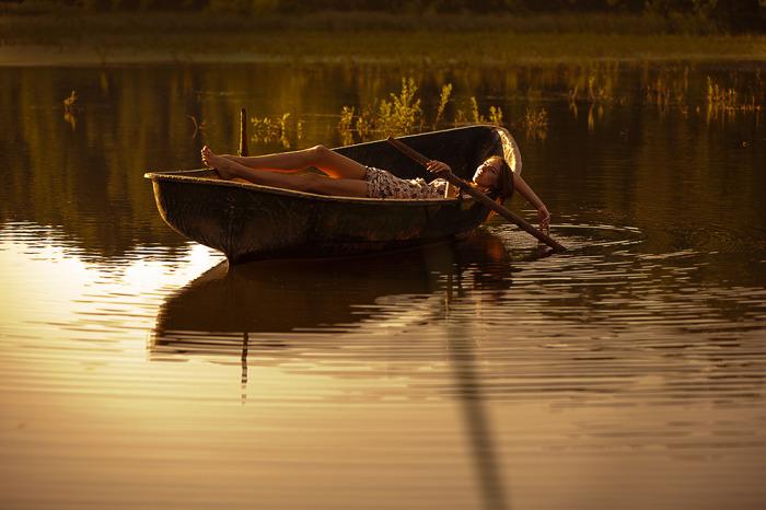 Представляем себя в лодке и все. /Фото: photosight.ru.