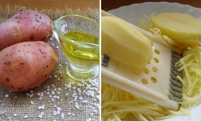 Готовим картошку и масло, после чего трем плод на терку. /Фото: novate.ru.