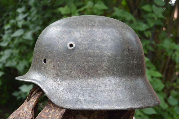 Немецкая каска была неплоха, но на ней стали экономить. /Фото: meshok.net.