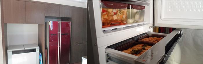 В Корее популярны вот такие холодильники.