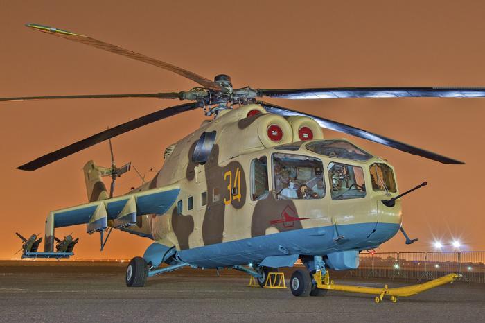 Ранняя модификация Ми-24А. /Фото: komotoz.ru.