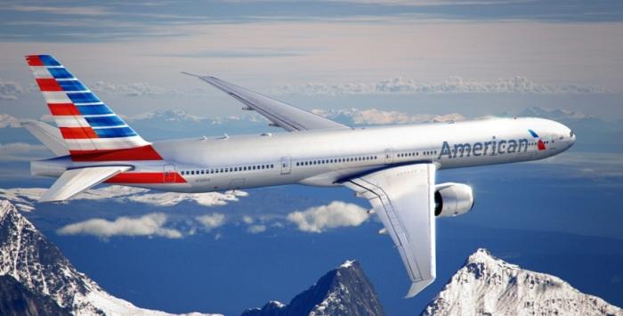 Высокотехнологичный Boeing 777-300ER есть мало топлива.