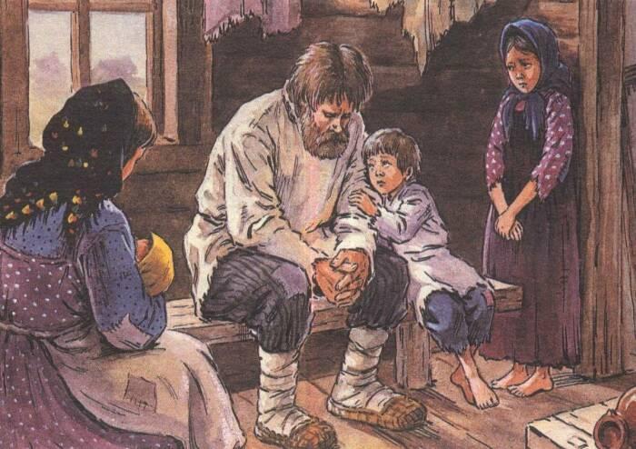 Дети и женщины чаще всего ходили босиком. /Фото: finobzor.ru.
