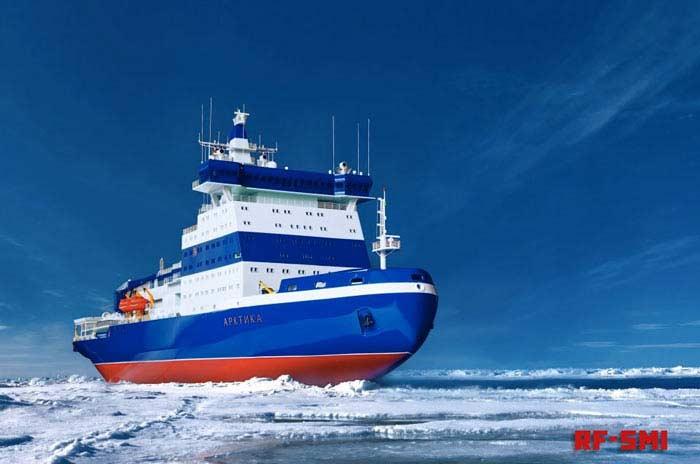 Арктика - новейший российский ледокол.