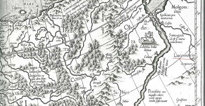 Даже на старинных картах Лукоморье встречается. /Фото: ya.ru.