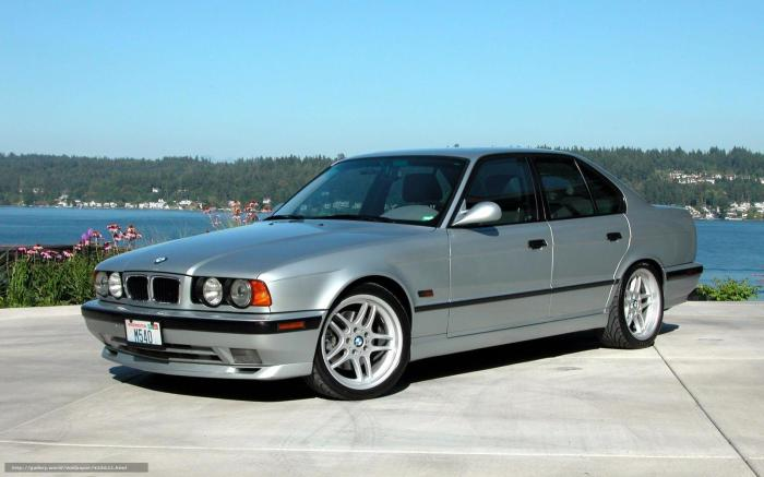 Печально известный BMW E34.