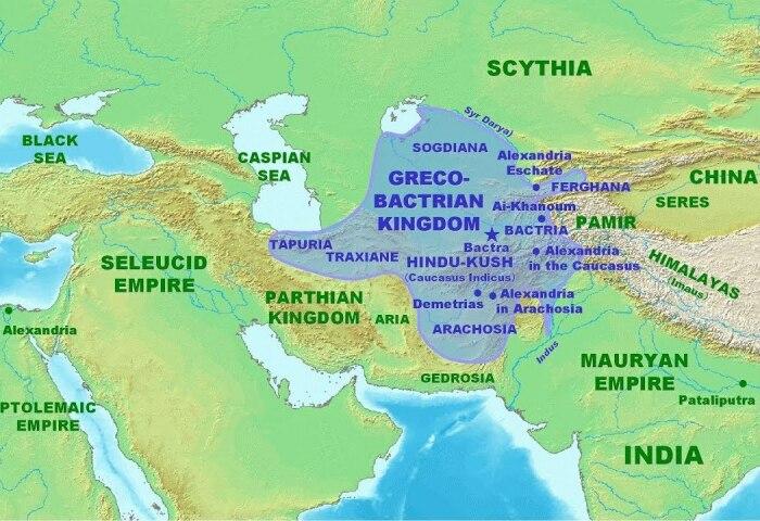 Бактрия - один из осколков державы Александра, где смешалась азиатская и греческая культуры. /Фото: everipedia.org.