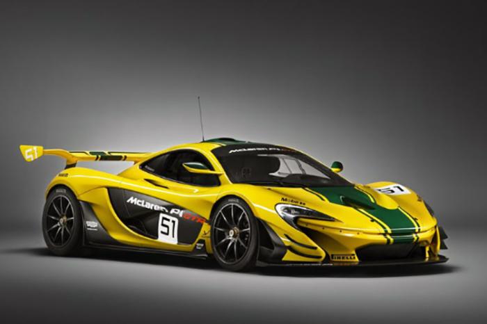 Немного пестрый, но все-таки красивый McLaren P1 GTR.