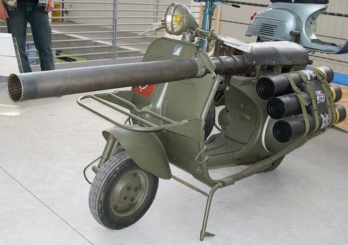 Vespa Militare - грозный мотороллер второй мировой.