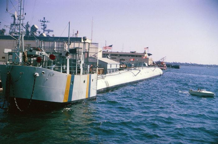 Исследовательское судно.
