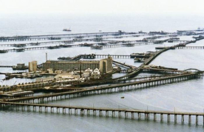 Это настоящий город на воде.