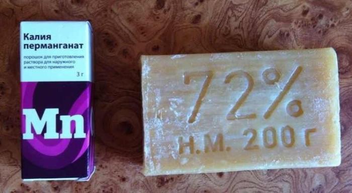 Понадобится мыло и марганцовка. /Фото: uslug.com.