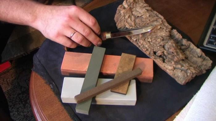 Нож должен легко точится. /Фото: youtube.com.
