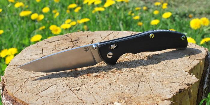 Отечественный складной нож.