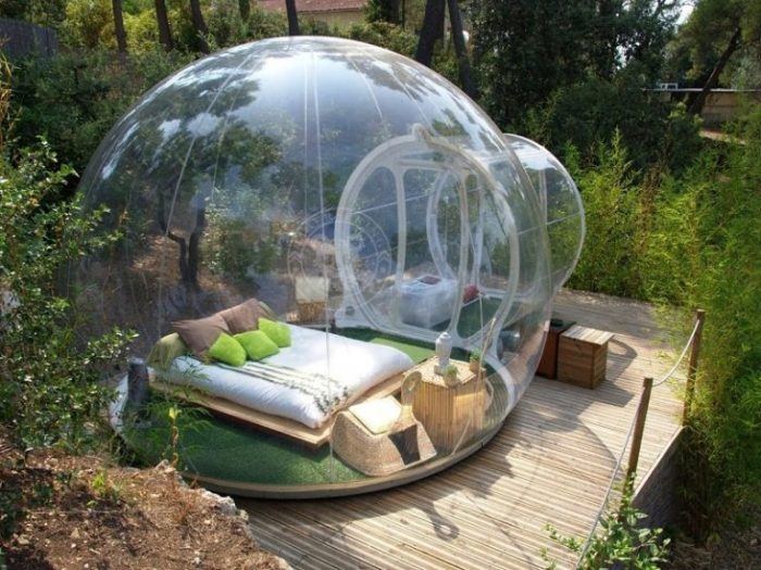 Открытая палатка Crystal Bubble Tent.