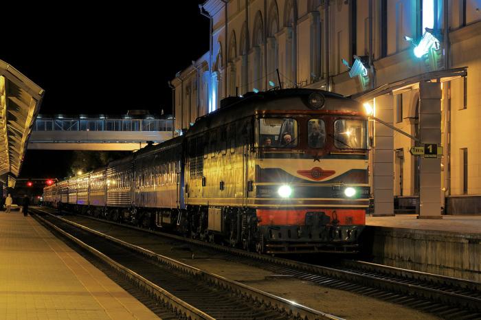 Поезд стоит на вокзале. /Фото: pskovrail.ru.