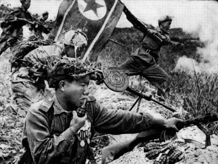 В 1950 году началась война в Корее. /Фото: forum.guns.ru.