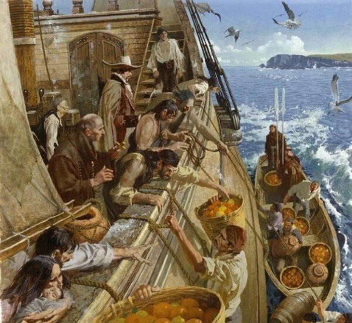 Моряки хватались за любую возможность разнообразить диету. Фото: fishki.net.