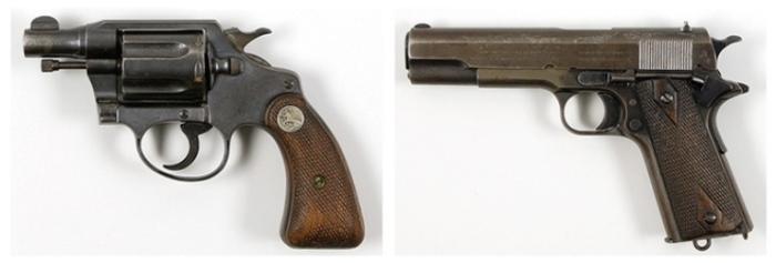 Оружие печально известной парочки.
