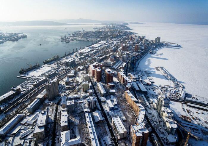 Зимы во Владивостоке суровее, чем в Японии. /Фото: ya.ru.