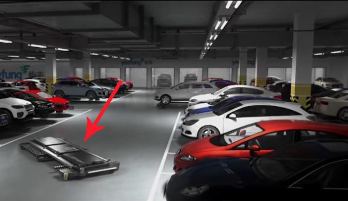 Роботизированная парковочная площадка.
