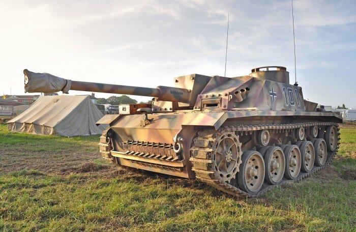 Немецкое штурмовое орудие. /Фото: w-dog.ru.