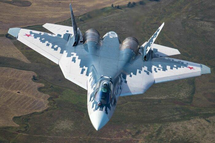 Су-57 самолет тяжелый и дорогой. /Фото: Twitter.