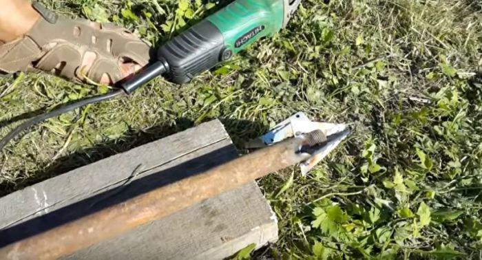 Делаем водный бур. /Фото: youtube.com.