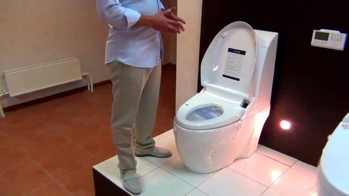 Такой туалет не только сам смывает.