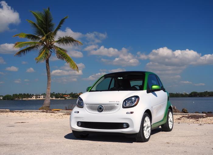 Электрический ситикар Smart ForTwo ED - практически идеальный автомобиль для города.