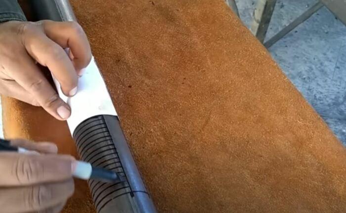 Переносим разметку. /Фото: youtube.com.