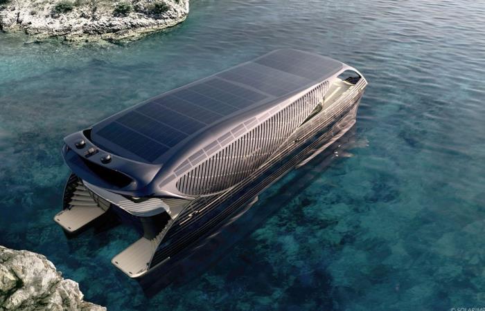 Первая полностью автономная яхта.