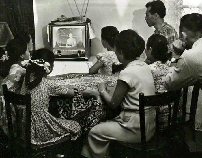 Телевизоры были не такие как сейчас. /Фото: fotostrana.ru.