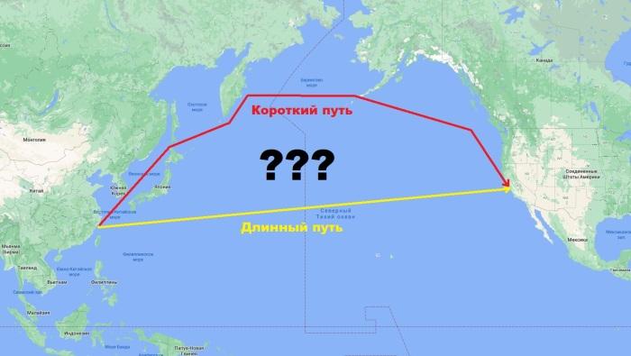 Почему суда плывут именно так? /Фото: novate.ru.