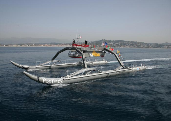 Футуристическое судно. /Фото: wam-v.com.