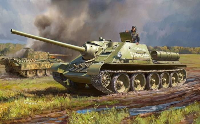 СССР сделал ставку на САУ и артиллерию. /Фото: scalejournal.ru.