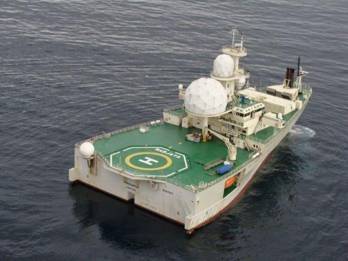 Первым было вот такое судно, которое сегодня переоборудовано в плавающий радар. /Фото: pinterest.ru.