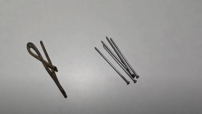 Электрод и есть гвоздь, просто не совсем обычный. /Фото: youtube.com.