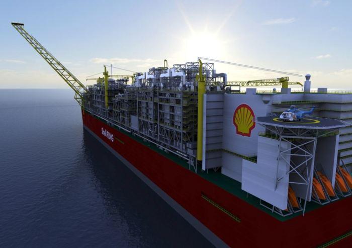 Это плавающий завод Shell.