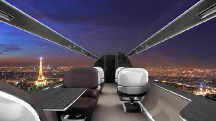 Концепция самолетов без иллюминаторов уже существует.