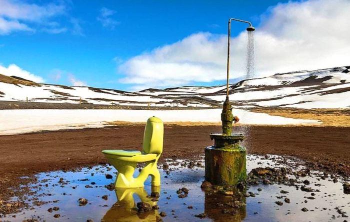 Туалет там, где нет ничего. /Фото: onedio.com.