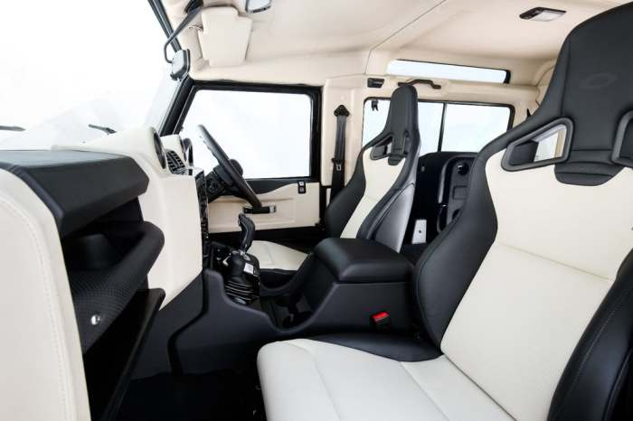 Отличный получился салон у Land Rover Defender.