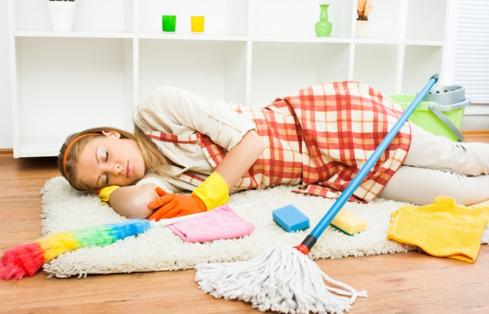 Нет больше сил делать уборку.