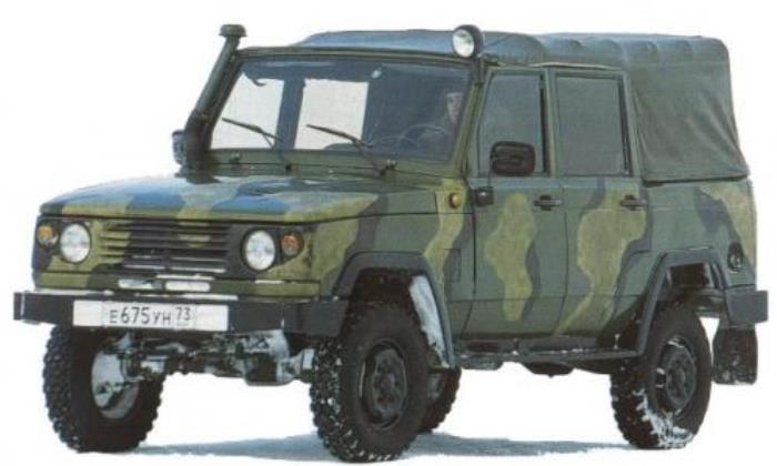 УАЗ 3172 был версией для военных.